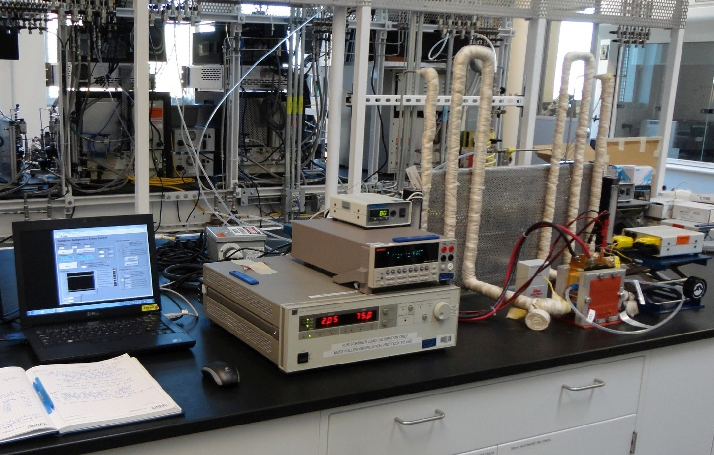 Bench-top electrolyzer system in a laboratory