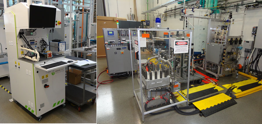 Small- and large-scale electrolyzer evaluation systems